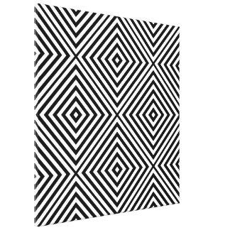 Schwarzer Diamant Zickzack @ Emporiomoffa Gespannter Galeriedruck