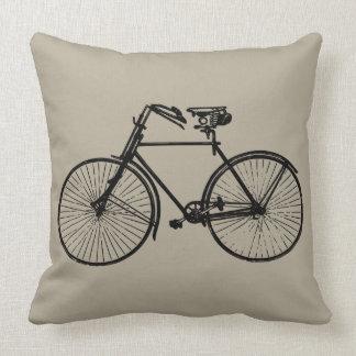 schwarzer Fahrradfahrrad Wurfskissen Taupe Kissen