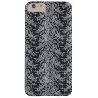Schwarzer feiner Spitze-Beschaffenheit iPhone Mit Barely There iPhone 6 Plus Hülle