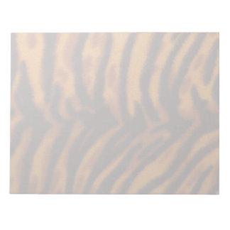 Schwarzer gestreifter Tigerpelz oder Notiz Blöcke