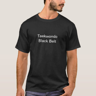 Schwarzer Gurt-Shirt Taekwondos T-Shirt