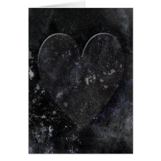 Schwarzer Herz-Himmels-gotischer Valentinstag Karte