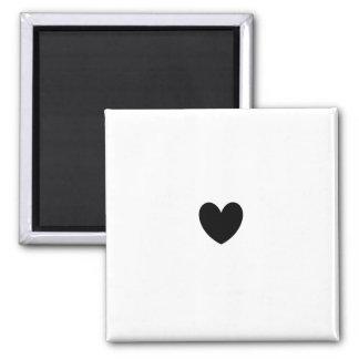 Schwarzer Herz-Magnet Quadratischer Magnet
