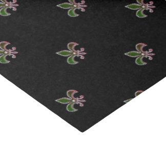 Schwarzer Hintergrund mit Lilie Seidenpapier