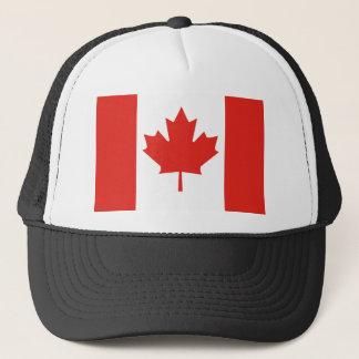 Schwarzer Hut Kanada-Flagge Truckerkappe