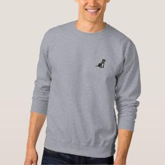 Schwarzer Labrador gesticktes Sweatshirt