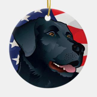 Schwarzer Labrador-Retriever von Amerika Keramik Ornament