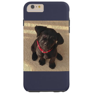 Schwarzer Labradorwelpe iPhone Kasten Tough iPhone 6 Plus Hülle