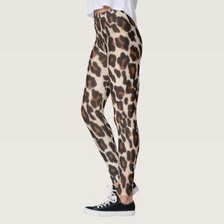 Schwarzer Leopard-Druck Browns Leggings