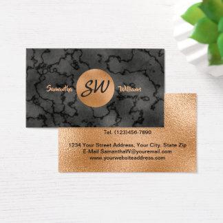 Schwarzer Luxusmarmor und Kupfer beruflich Visitenkarte