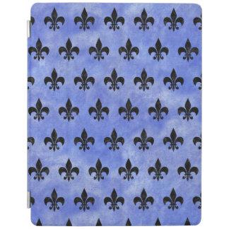 SCHWARZER MARMOR ROYAL1 U. BLAUES AQUARELL iPad SMART COVER