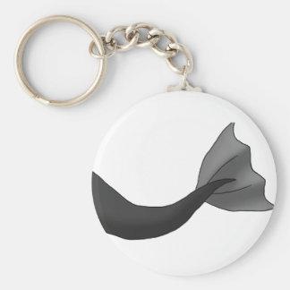 Schwarzer Meerjungfrau-Schwanz Schlüsselanhänger