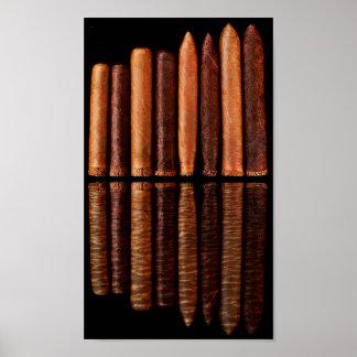 Schwarzer Minimalismus Kubaner Habana ZigarrenVip Poster