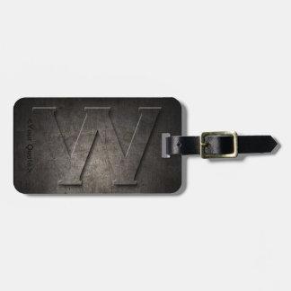 Schwarzer Monogramm-Reise-BronzeGepäckanhänger des Kofferanhänger