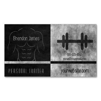 Schwarzer persönlicher Trainer-muskulöser Magnetische Visitenkarten