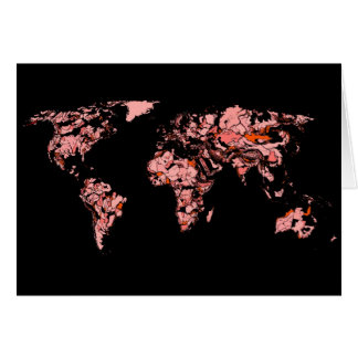 Schwarzer Pfirsichatlas Grußkarte