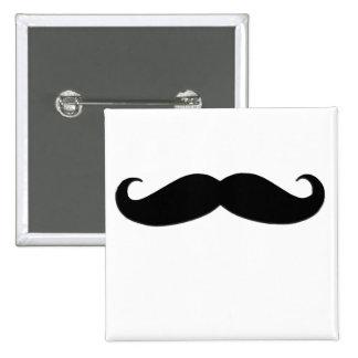Schwarzer Schnurrbart oder schwarzer Schnurrbart Quadratischer Button 5,1 Cm