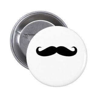 Schwarzer Schnurrbart oder schwarzer Schnurrbart Runder Button 5,7 Cm