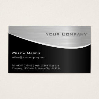 Schwarzer Stahleffekt, berufliche Geschäfts-Karte Visitenkarten