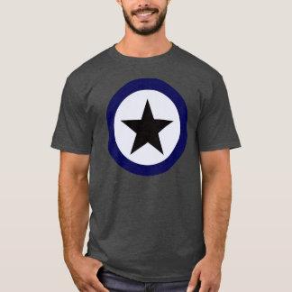Schwarzer Stern-blauer Kreis-T - Shirt