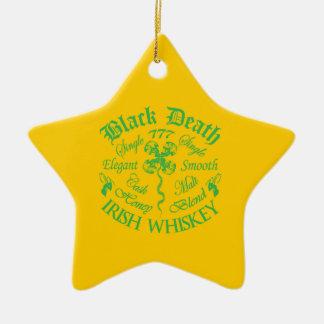 Schwarzer Tod 777 - Honig-Iren-Whisky Keramik Stern-Ornament