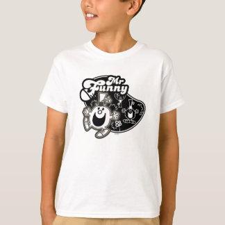 Schwarzer u. weißer Herr Funny T-Shirt