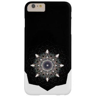 Schwarzer u. weißer Kasten der Mandala-Blume Barely There iPhone 6 Plus Hülle