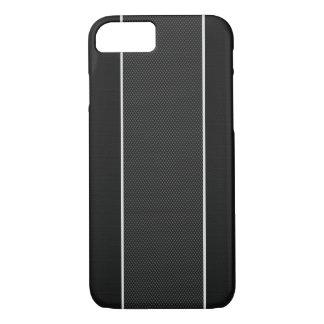 Schwarzer u. weißer Kohlenstoff-Faser iPhone 7 iPhone 8/7 Hülle