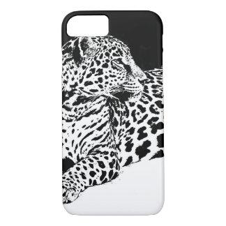 Schwarzer u. weißer Leopard iPhone 6 Kasten iPhone 8/7 Hülle