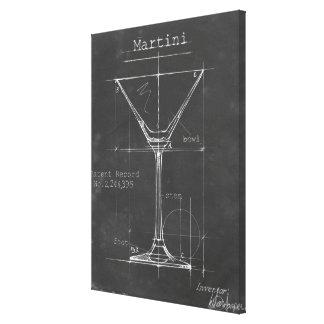 Schwarzer u. weißer Martini-Glas-Plan Galerie Gefaltete Leinwand
