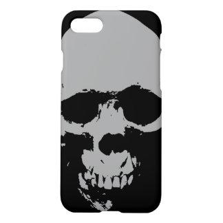 Schwarzer u. weißer Pop-Kunst-Schädel iPhone 7 iPhone 8/7 Hülle