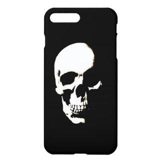 Schwarzer u. weißer Pop-Kunst-Schädel iPhone 8 Plus/7 Plus Hülle