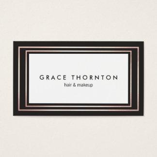 Schwarzer u. weißer Rosen-Goldschönheits-Salon Visitenkarten