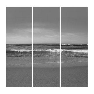 Schwarzer u. weißer Strand Triptychon