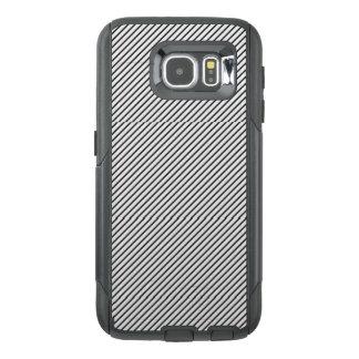 Schwarzer u. weißer Streifen-Handy-Kasten