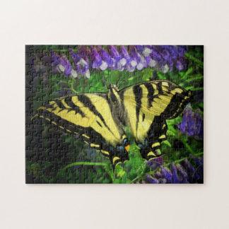 Schwarzer und gelber Schmetterling Puzzle