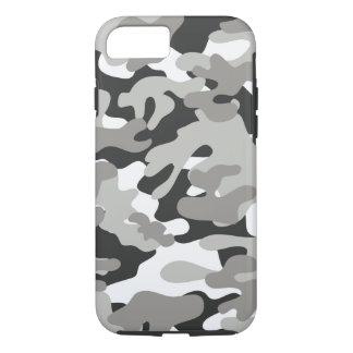 Schwarzer und grauer Camouflage-Entwurf iPhone 7 Hülle