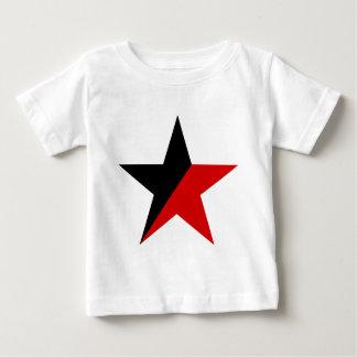 Schwarzer und roter Stern Anarcho-Syndikalismus Baby T-shirt