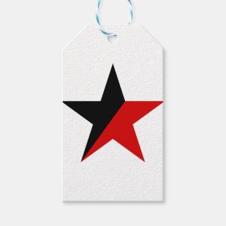 Schwarzer und roter Stern Anarcho-Syndikalismus Geschenkanhänger