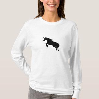 Schwarzer Unicorn-T - Shirt