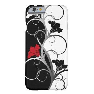 Schwarzer/weißer Blumen iPhone 6 Kasten Barely There iPhone 6 Hülle