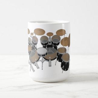 Schwarzes 10 Stück-Trommel-Ausrüstung - Kaffeetasse