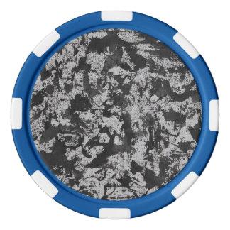 Schwarzes Aquarell auf Weiß Poker Chip Set