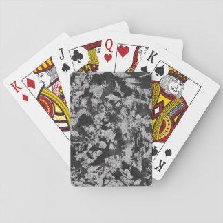 Schwarzes Aquarell auf Weiß Spielkarten