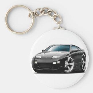 Schwarzes Auto Nissans 300ZX Schlüsselanhänger