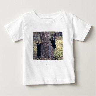 Schwarzes Bärenjunges Baby T-shirt