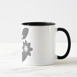 Schwarzes blühen Tasse