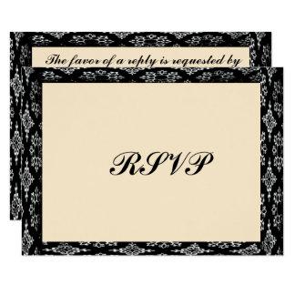 Schwarzes/Creme-Bar Mitzvah/Geburtstag UAWG Karte 8,9 X 12,7 Cm Einladungskarte