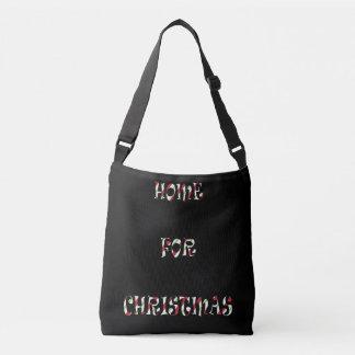 Schwarzes Crossbody Tasche ` Zuhause für