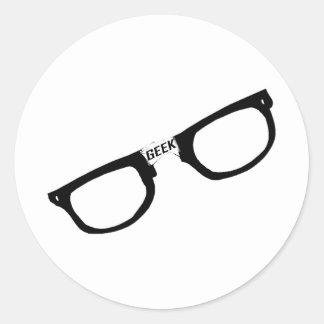 Schwarzes eingefaßte Aussenseiter-Gläser Runder Aufkleber